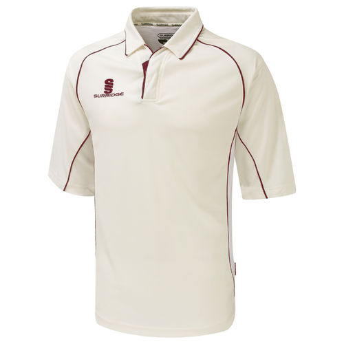 Surridge Premier Cricket Shirt Youth - 3/4 Length Sleeve