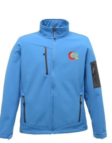 DCCL Umpire Blue Soft-shell Jacket