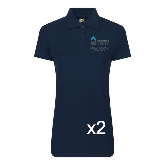 Kirklees College Child Care Female Polo